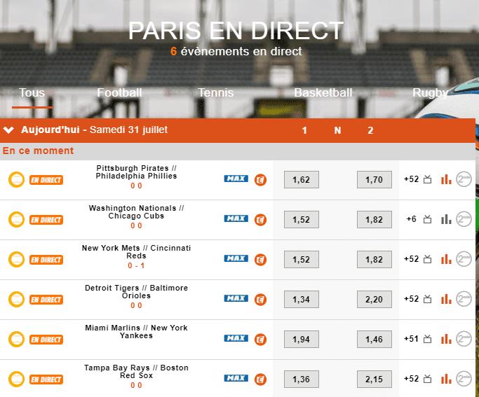 PMU Sport Paris en direct